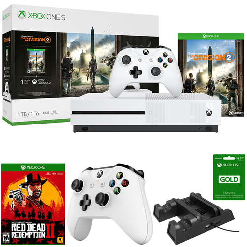 Microsoft Xbox One S 1 TB Console w/ Tom Clancy's The Division 2 +Xbox Live Bundle