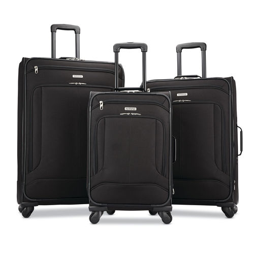 American Tourister Pop Max 3 Piece Luggage Spinner Set - 29/25/21(Black)(115358-1041)