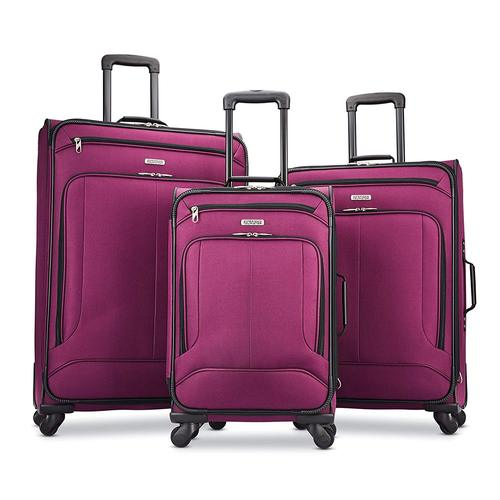 American Tourister Pop Max 3 Piece Luggage Spinner Set - 29/25/21(Berry)(115358-1944)