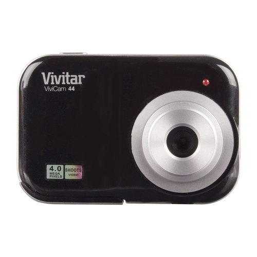 Vivitar 4.1MP Digicam 4X Digital Zoom Digital Camera w/ 1.5` Screen, Black (V46-BLK)