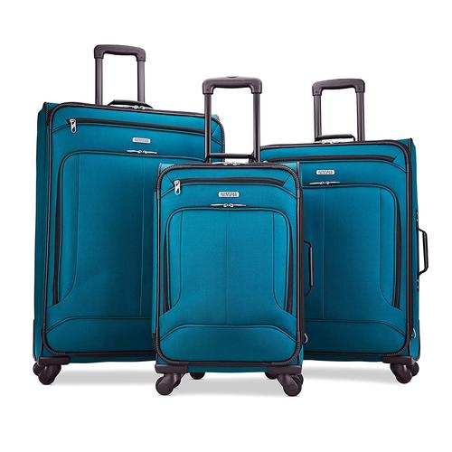 American Tourister Pop Max 3 Piece Luggage Spinner Set - 29/25/21(Teal)(115358-2824)