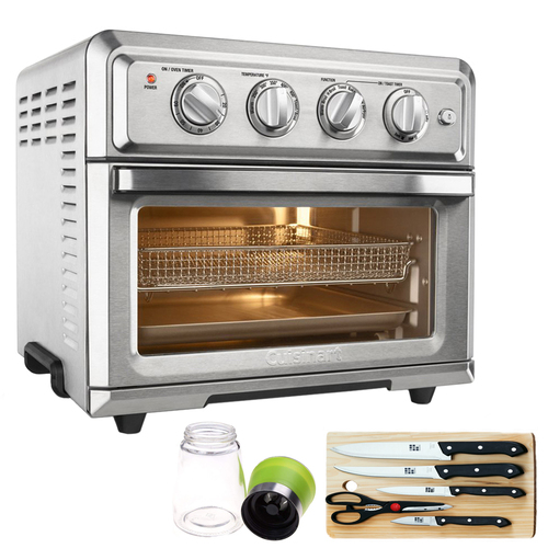 Cuisinart TOA-60 Convection Toaster Oven Air Fryer (Refurbished) w/ Extreme Kitchen Bundle