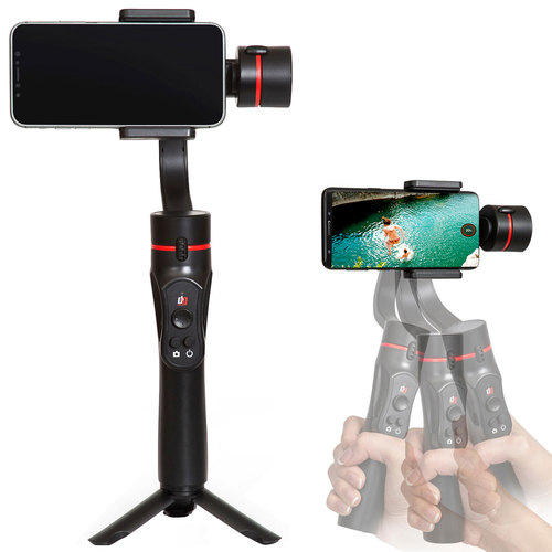 Deco Gear 3-Axis Handheld Cell Phone Gimbal Stabilizer for Apple iOS & Android - GIM100BK