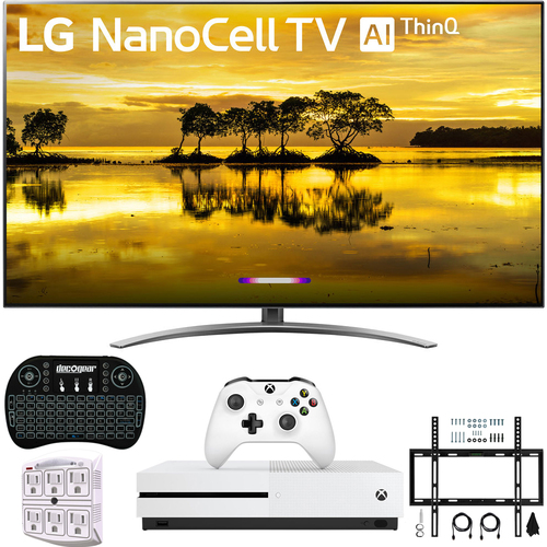 LG 55` 4K HDR Smart LED NanoCell TV w/ AI ThinQ 2019 Model + Xbox One S Bundle