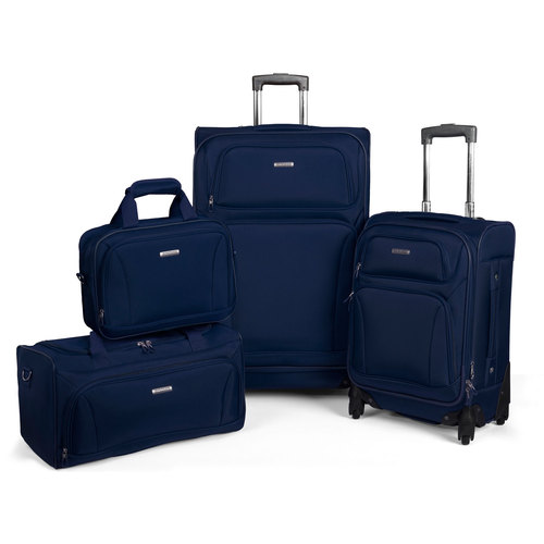 American Tourister Premium 4 Piece Lightweight 1680D Set (20 & 28 Spinner + Boarding & Duffel) Navy