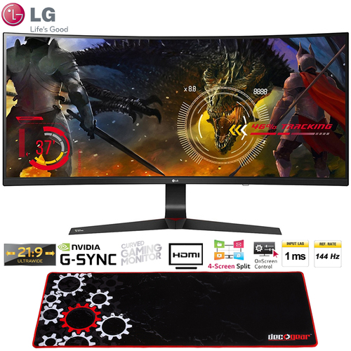 LG 34` Curved IPS Ultrawide Monitor 21:9 (34UC89G) + Deco Gear Gaming Mouse Pad