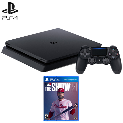 Sony Playstation 4 Slim Gaming Console (CUH-2215B) with MLB The Show 19 Standard Ed