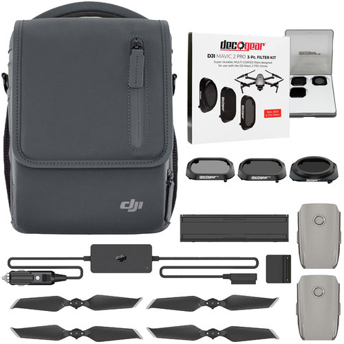 DJI Mavic 2 Fly More Combo Pro Bundle with Deluxe Filter Kit (CPL, ND4, ND8)