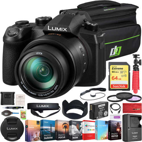 Panasonic LUMIX FZ1000 II 16x 25-400mm LEICA DC Lens Digital Camera Deco Gear Elite Bundle
