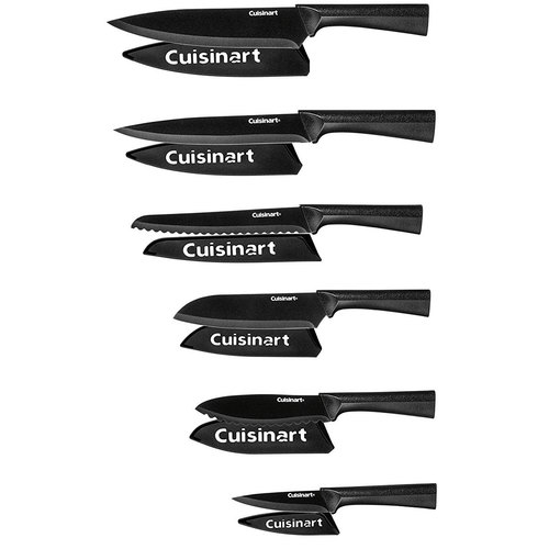 C55-12PMB 12 Piece 6 Knife Set with 6 Blade Guards Black