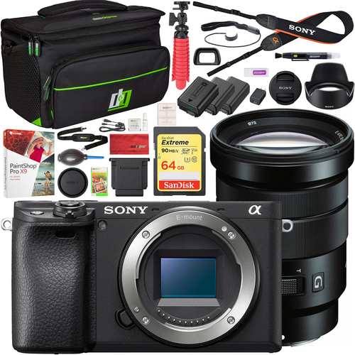 Sony a6400 Mirrorless 4K Camera Body ILCE-6400/B + 18-105mm F4 G OSS Lens Kit Bundle