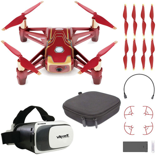 DJI Tello Quadcopter Iron Man Edition Drone with HD Camera and VR Starter Bundle