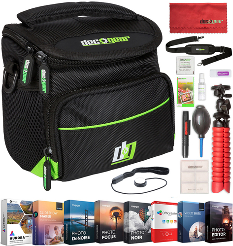 DSLR Mirrorless Camera Bag +Software Editing Bundle+Tripod & Bonus Accessory Kit