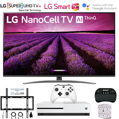 LG 65SM8100AUA 65` Nano Cell 4K UHD LED Smart TV w/ThinQ AI 2019+Xbox One S Bundle