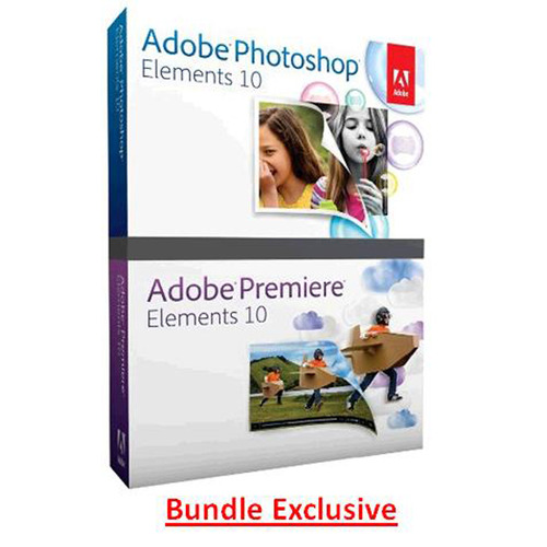 Adobe Photoshop Elements and Premiere Elements 10 - MAC / PC (oem bundle package)