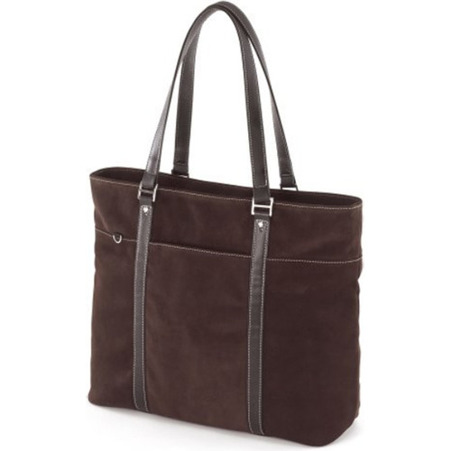 Mobile Edge METL08 Suede Ultra Tote chocolate computer case for Laptops up to 15.4`