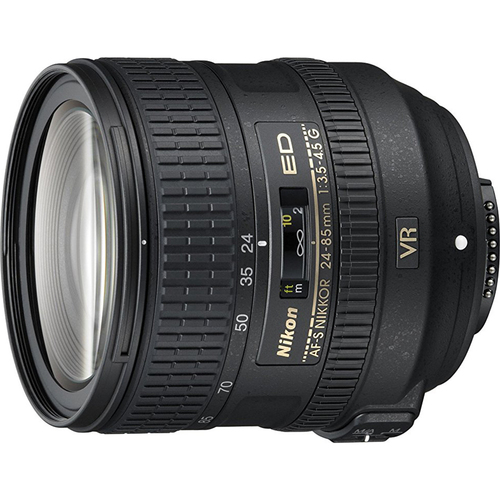 Nikon AF-S NIKKOR 24-85mm f/3.5-4.5G ED VR Lens - 2204 - FACTORY REFURBISHED