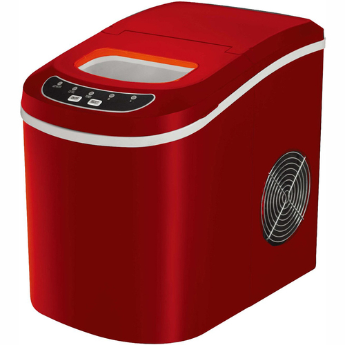 Frigidaire Portable Compact Maker, Counter Top Ice Making Machine - Red