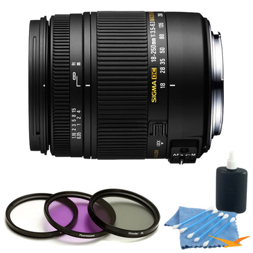 Sigma 18-250mm F3.5-6.3 DC Macro OS HSM Lens for Canon EF Kit