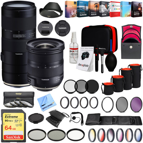 Tamron 17-35mm F/2.8-4 Di OSD and 70-210mm F/4 Di Telephoto Zoom Lens Bundle for Canon