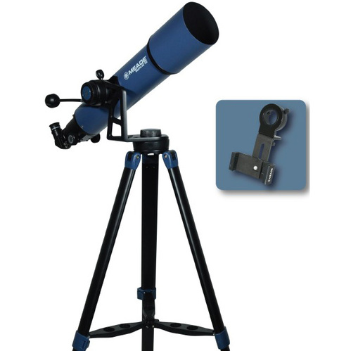 MEADE StarPro AZ 102 mm Refractor Telescope with Smartphone Adapter 234004
