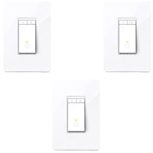 TP-Link Kasa Smart Wi Fi Light Switch Dimmer 3 Pack