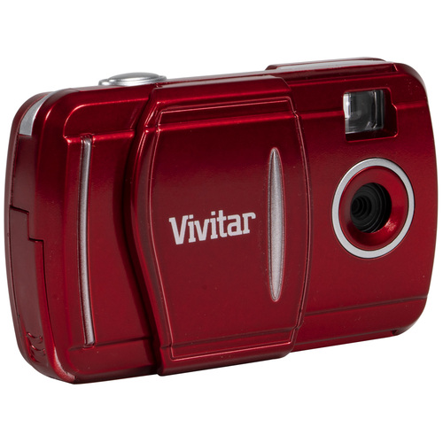 Vivitar 3-in-1 LCD Fixed Zoom Digital Camera, Takes Photos and Videos - Red (V69379)
