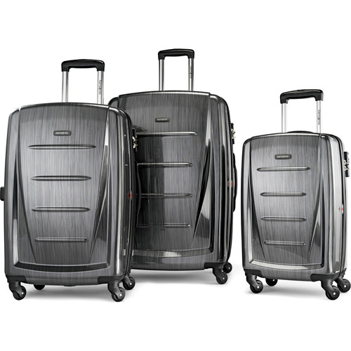 Winfield 2 Fashion Hardside 3 Piece Spinner Set - Charcoal (56847-1174)
