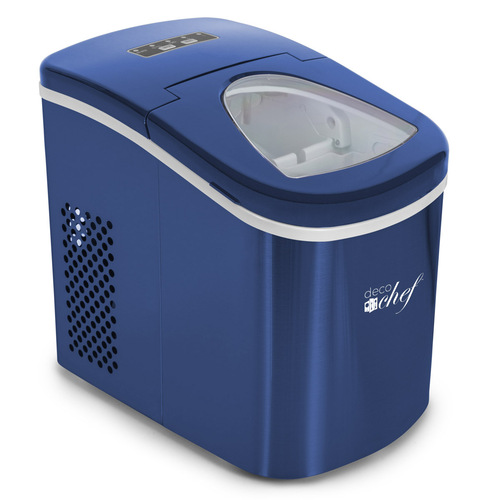 Deco Chef Blue Compact Electric Ice Maker | (IMBLU) | Top Load | 26 Lbs Per Day