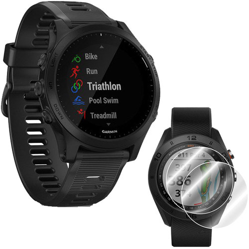 Garmin Forerunner 945 GPS Sport Watch (Black) with Screen Protector (2-Pack) Bundle
