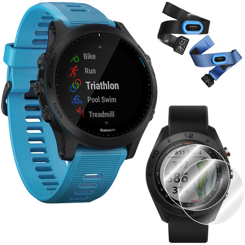 Garmin Forerunner 945 GPS Sport Watch (Blue Bundle) with Screen Protector (2-Pack)