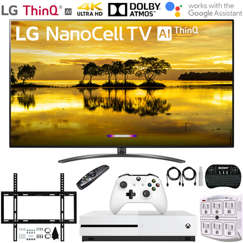 LG 86` 4K HDR Smart LED NanoCell TV w/ AI ThinQ (2019) + Xbox One S Bundle