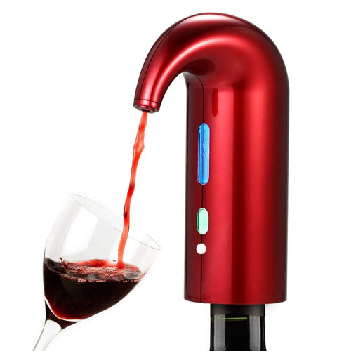 Deco Home Electric wine Aerator and Pourer - Red