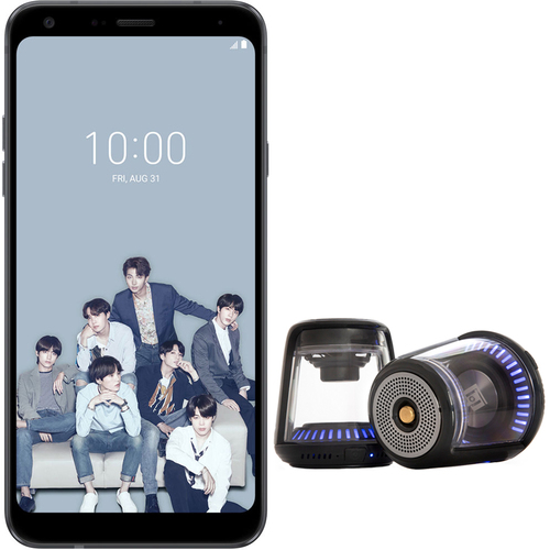 LG Q7+ BTS Edition 64GB Smartphone Unlocked BONUS True Wireless Speakers