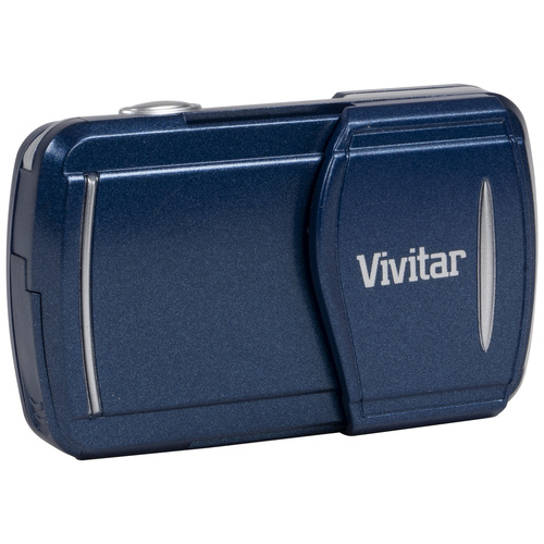 Vivitar 3-in-1 LCD Fixed Zoom Digital Camera, Takes Photos and Videos - Blue (V69379)