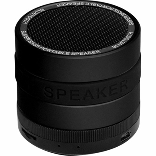 SYN Portable Bluetooth Speaker with 8 Customizable Color Bands - Black Speaker