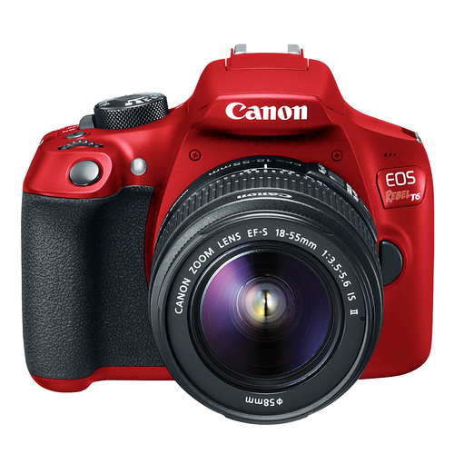 Canon EOS Rebel T6 Digital SLR Camera EF-S 18-55mm IS II Lens Kit Limited Edition Red