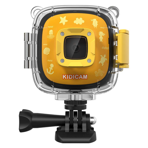 Dragon Touch Kids Camera Kidicam 1080P Action Camera 30m Waterproof Camera (Yellow)