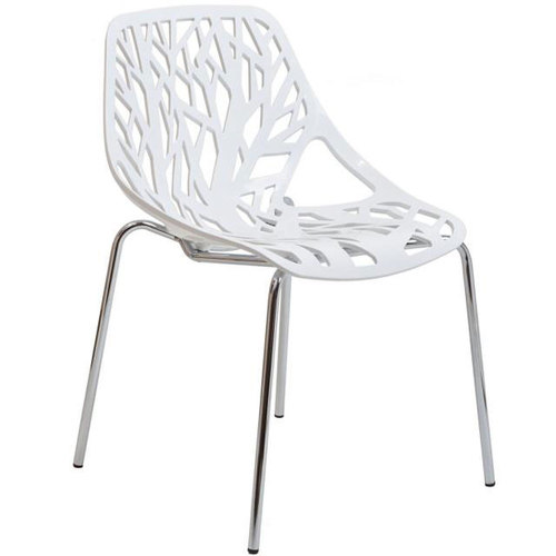 Stencil Dining Side Chair in White / Stencil