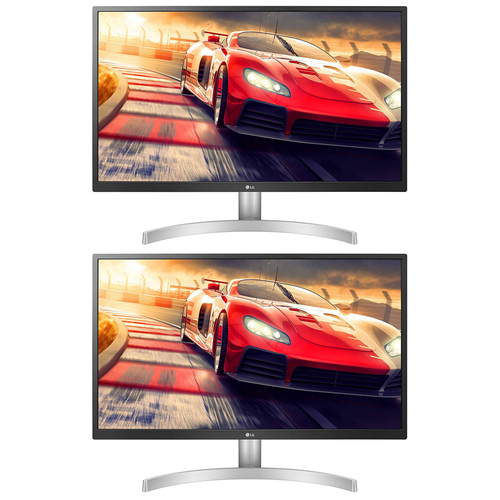 LG 27` 4K UHD IPS FreeSync Monitor with HDR 10 2019 Model Dual Monitor Bundles