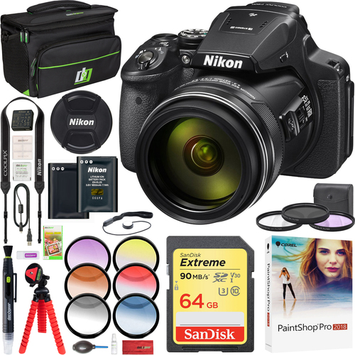 Nikon COOLPIX P900 Digital Camera with 83x Optical Zoom Wi-Fi Full HD Video Deluxe Kit