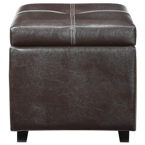 Modway Treasure Upholstered Vinyl Ottoman in Espresso
