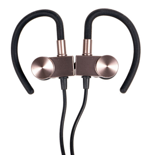 Magnetic Wireless Sport Earbuds - Gunmetal Grey - Carrying Case