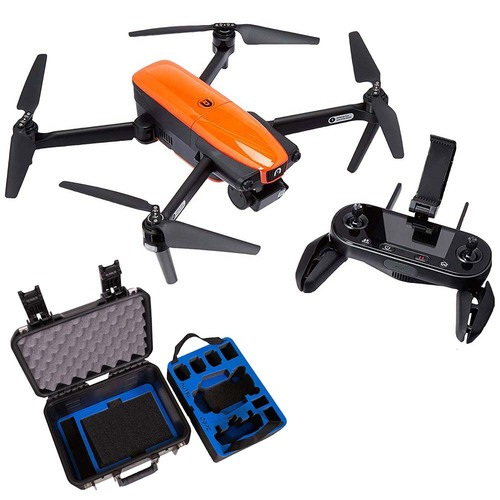 Autel Robotics EVO Drone Camera with 3.3 OLED Remote Controller & Military Hard Case Bundle