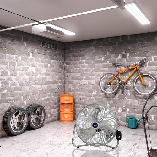 Silver Lasko 2265QM 20-Inch Max Performance High Velocity Floor//Wall mount fan