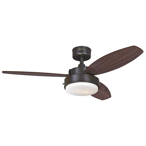 Westinghouse Lighting 7201900 Alloy Two-Light 42` Reversible Three-Blade Indoor Ceiling Fan