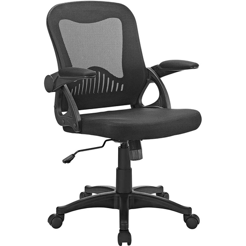Modway EEI-2155-BLK Advance Ergonomic Office Desk Chair, Black Mesh