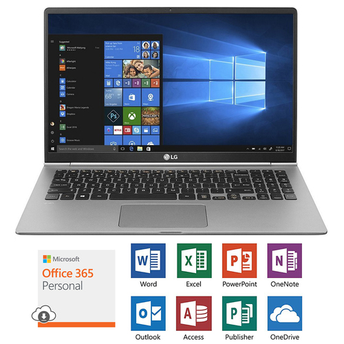 LG 15.6` gram Ultra-Slim Laptop with 1 Year Subscription Microsoft Office 365