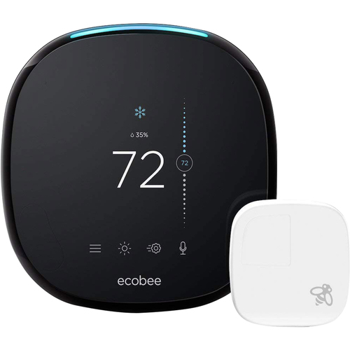 Ecobee 4 Smart Thermostat with Built-In Alexa, Room Sensor Included - Open Box