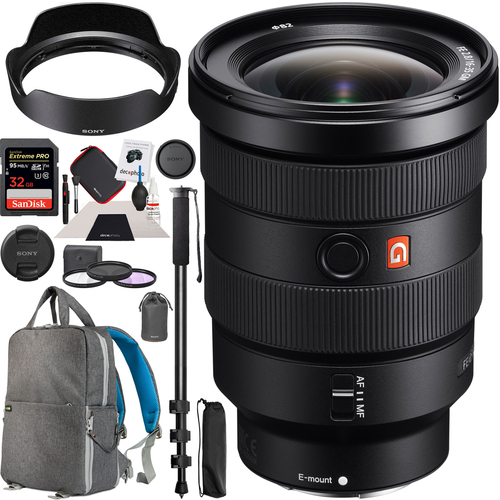 Sony FE 16-35mm F2.8 GM G Master E-Mount Lens SEL1635GM Wide Angle Zoom Pro Kit